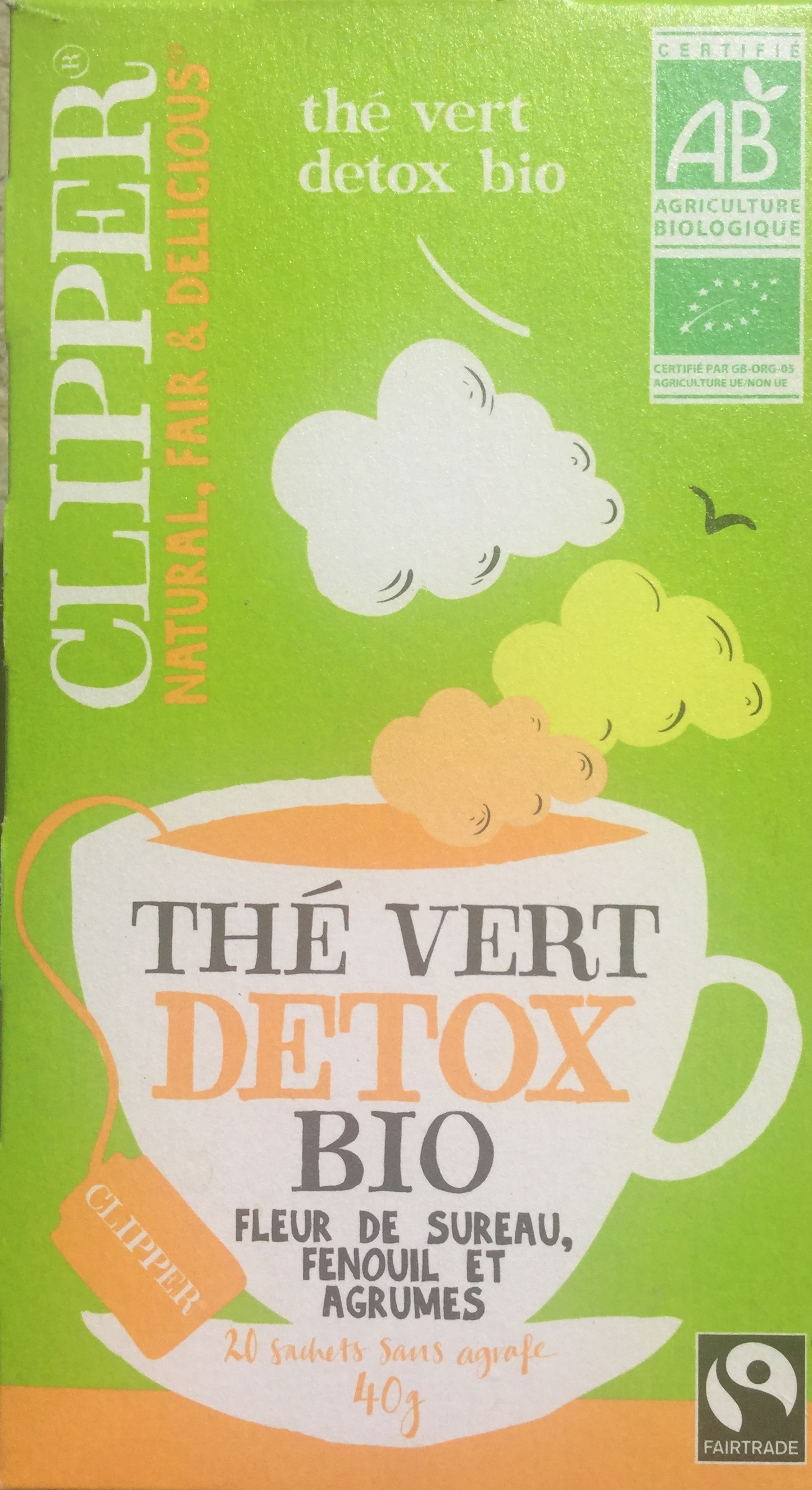 The Vert Detox Bio Clipper 40g 20 Sachets