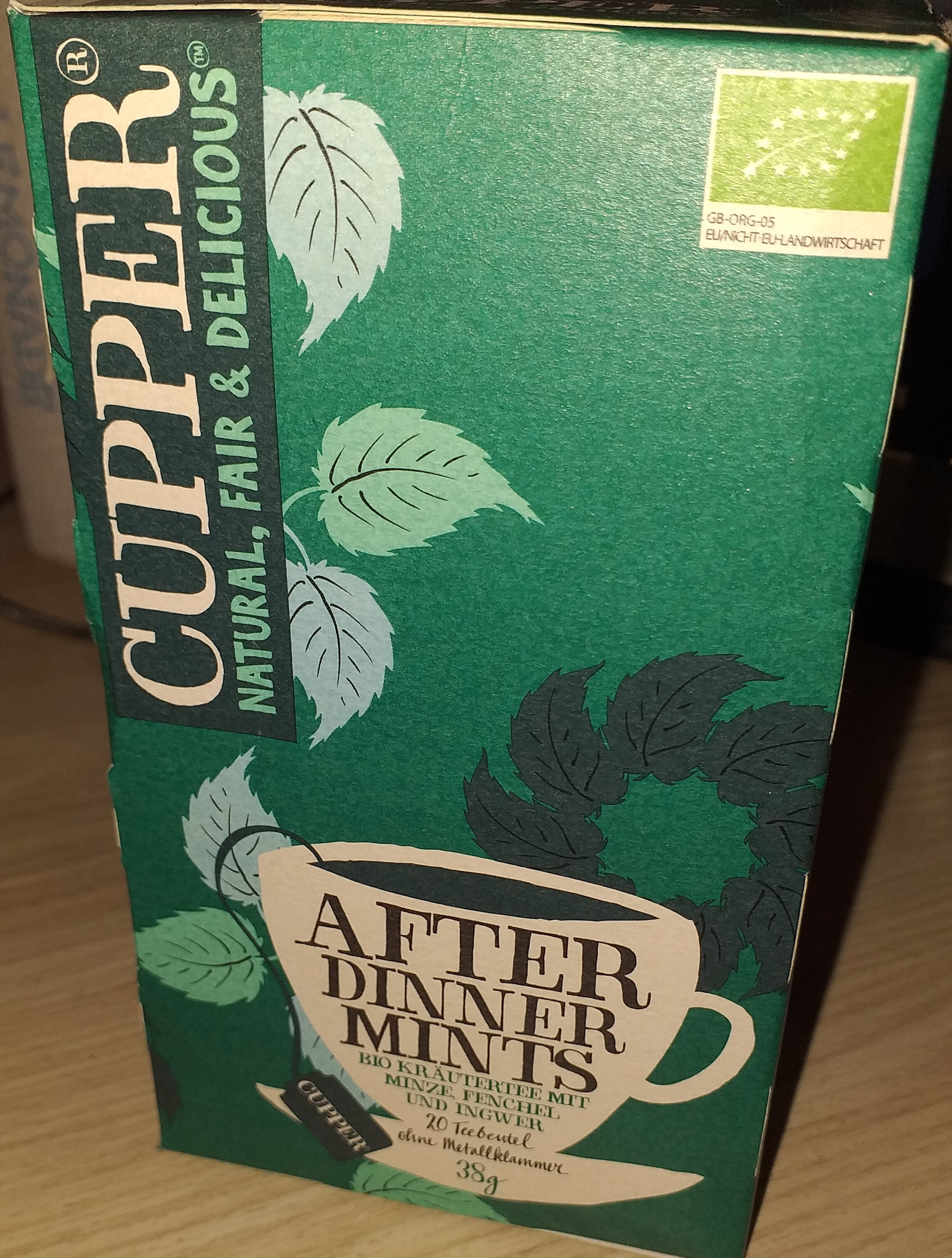 Cupper after dinner mints - Product - nl