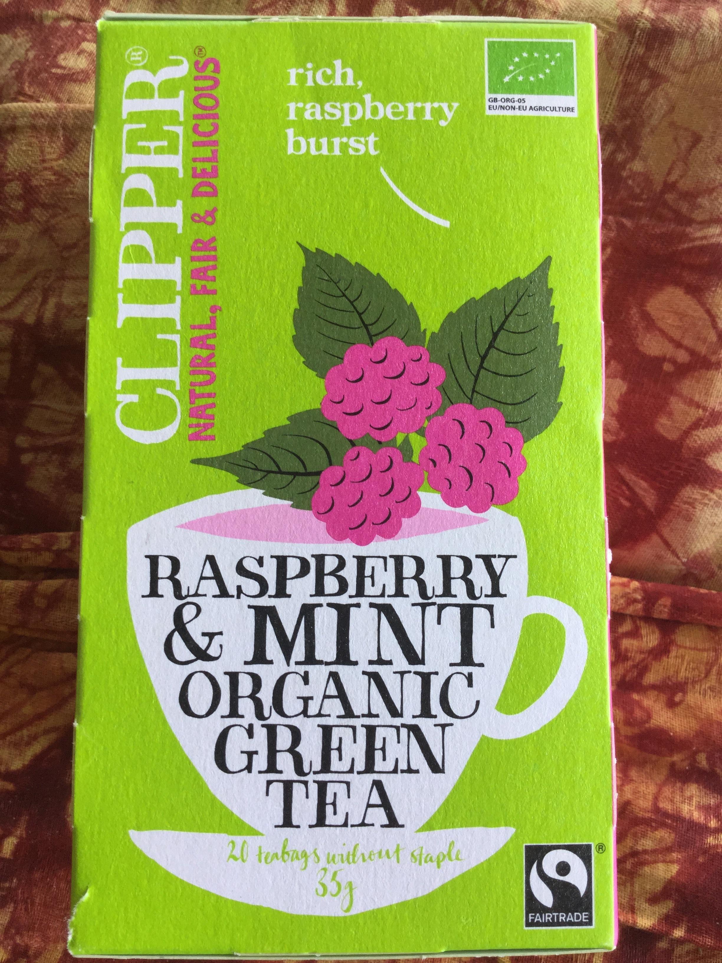 Raspberry & Mint Organic Green Tea - Product