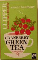 Cranberry Green Tea - Produit