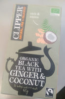 Organic black tea with ginger&coconut - Product - en