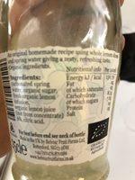 Belvoir Organic Handmade Lemonade - Ingrédients - fr