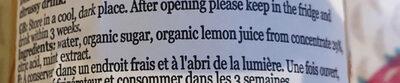 organic lemon and mint cordial - Ingredients - en