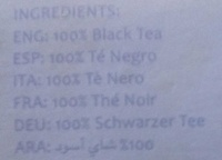 English Breakfast Black Leaf Tea - Ingredients - fr