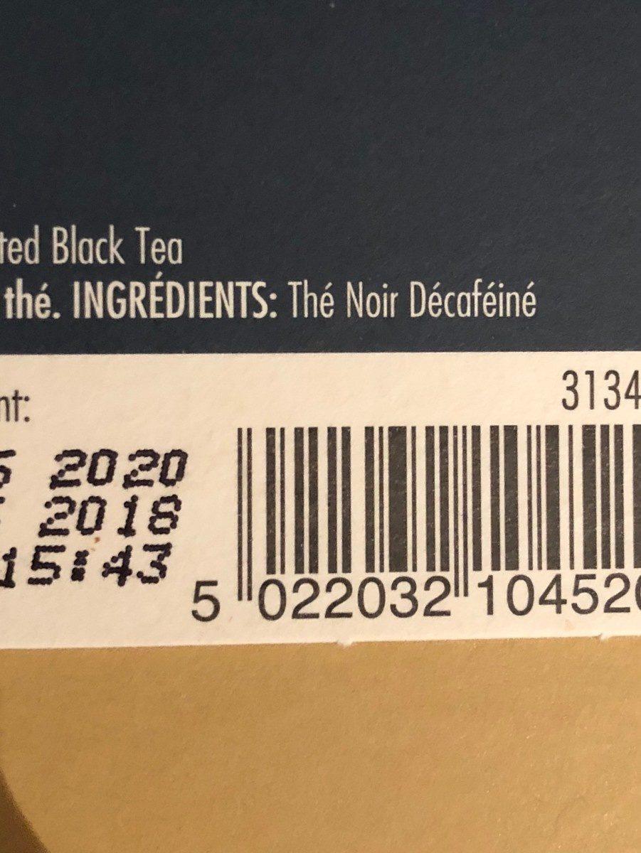 Decaffeinated breakfast tea n 24 - Ingredients