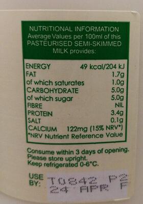 Milk - Ingrediënten - en