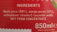 Tropicana Apple & Mango Juice 850ML - Ingrediënten