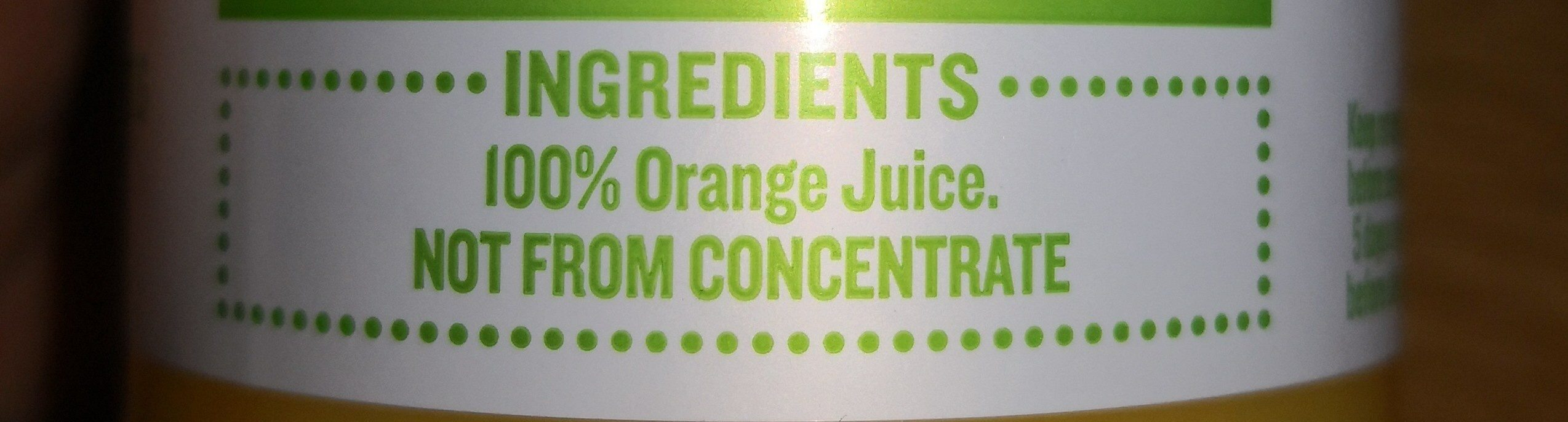 Tropicana Original Orange Juice - Ingrédients - fr