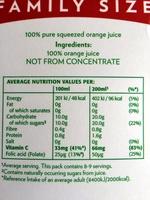 Smooth Pure Premium - Nutrition facts - en