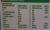 Smooth Orange Juice - Voedingswaarden - en