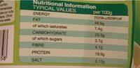 Jumbo cashews - Informations nutritionnelles - cs
