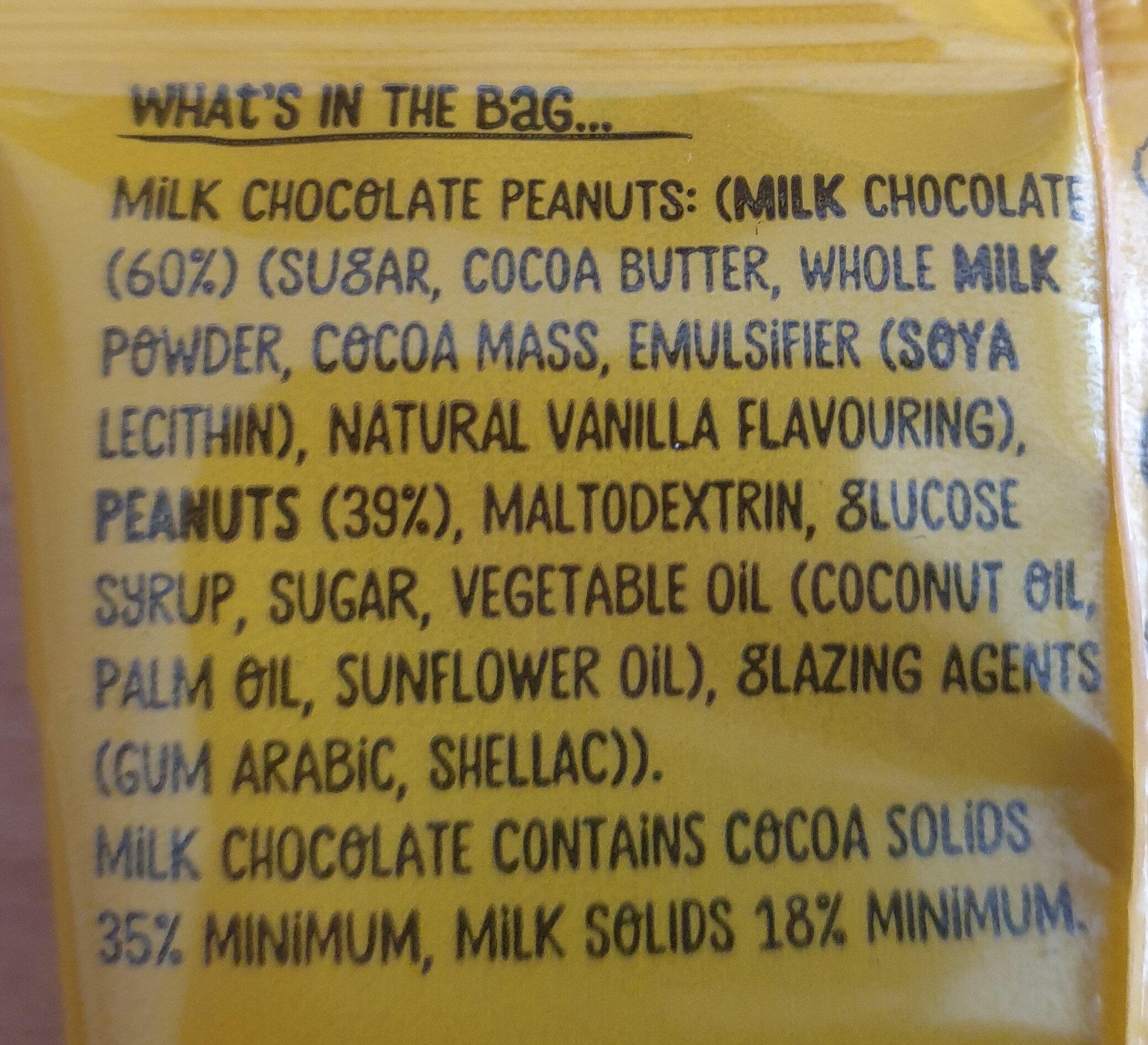 Milk Chocolate Peanuts - Ingrédients - en