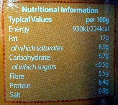 Vegetable Pate - Nutrition facts - en