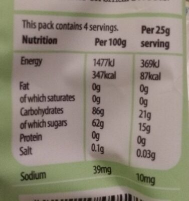 Vegebears - Nutrition facts - en