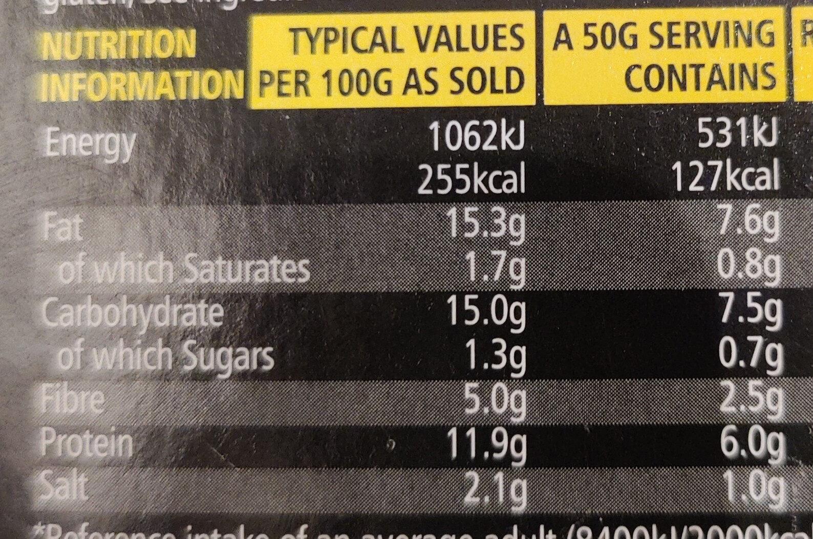 Marmite Houmous - Nutrition facts - en