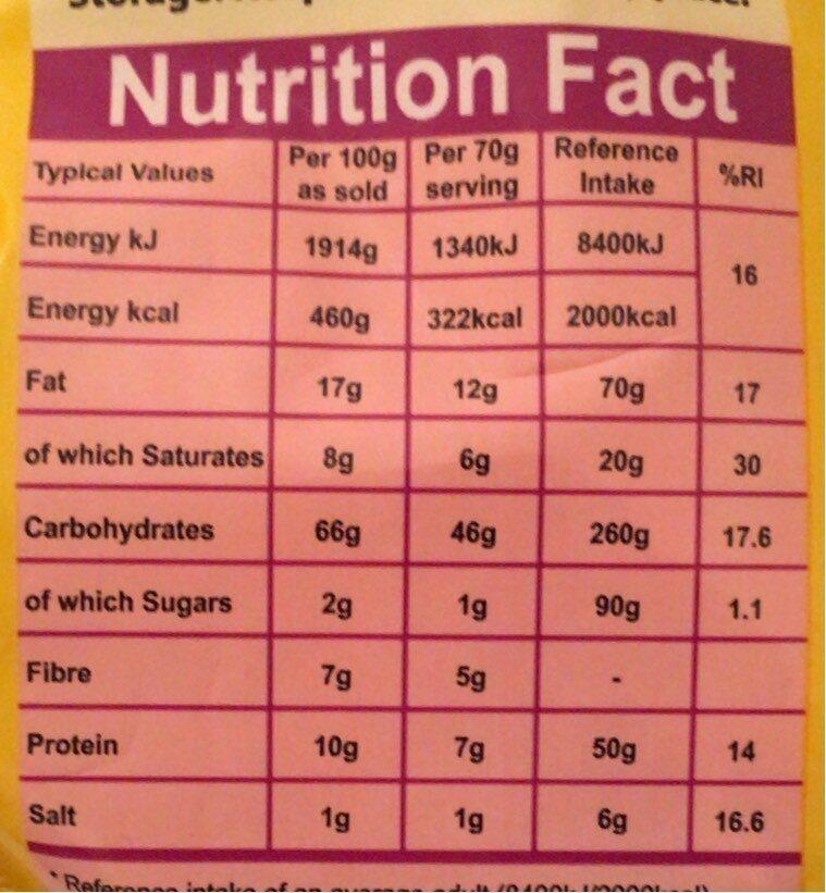 Ko lee instant noodles - Informations nutritionnelles - en