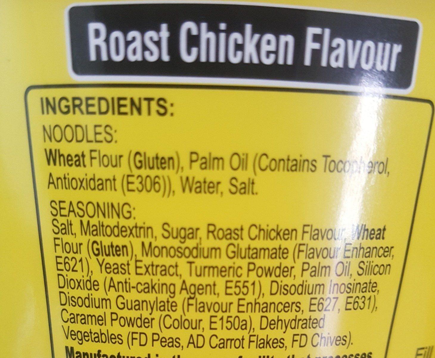 Ko-lee Go Noodles Roast Chicken 65G - Ingrédients
