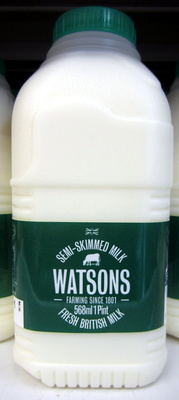 Fresh semi-skimmed British milk - Product