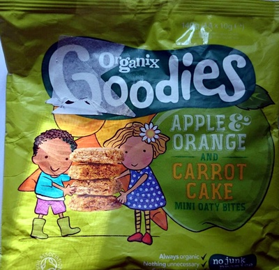 Organix Goodies - Apple & Orange And Carrot Cake Mini Oaty Bites - Product - en