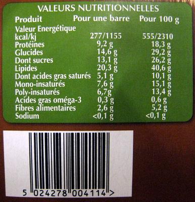 Original sans gluten - Nutrition facts
