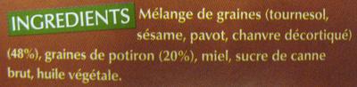 Potiron sans gluten - Inhaltsstoffe - fr