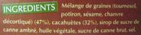 9bar cacahuète sans gluten - Ingredients