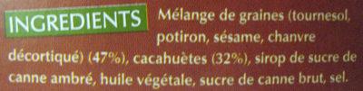 9bar cacahuète sans gluten - Ingrédients - fr