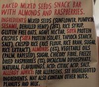 9 Bar: Breakfast Almond & Raspberry - 50G - Ingrediënten
