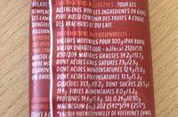 Super graines fruité - Informations nutritionnelles