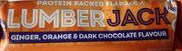 Barre protéinée flapjack gingembre, orange, chocolat noir - Produit - en
