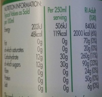 Pure pressed juice - Apple - Informations nutritionnelles - en