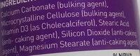 valupak Vitamin D3 - Ingredients - en