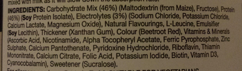 Rego Rapid Recovery - Strawberry - Ingredients - en
