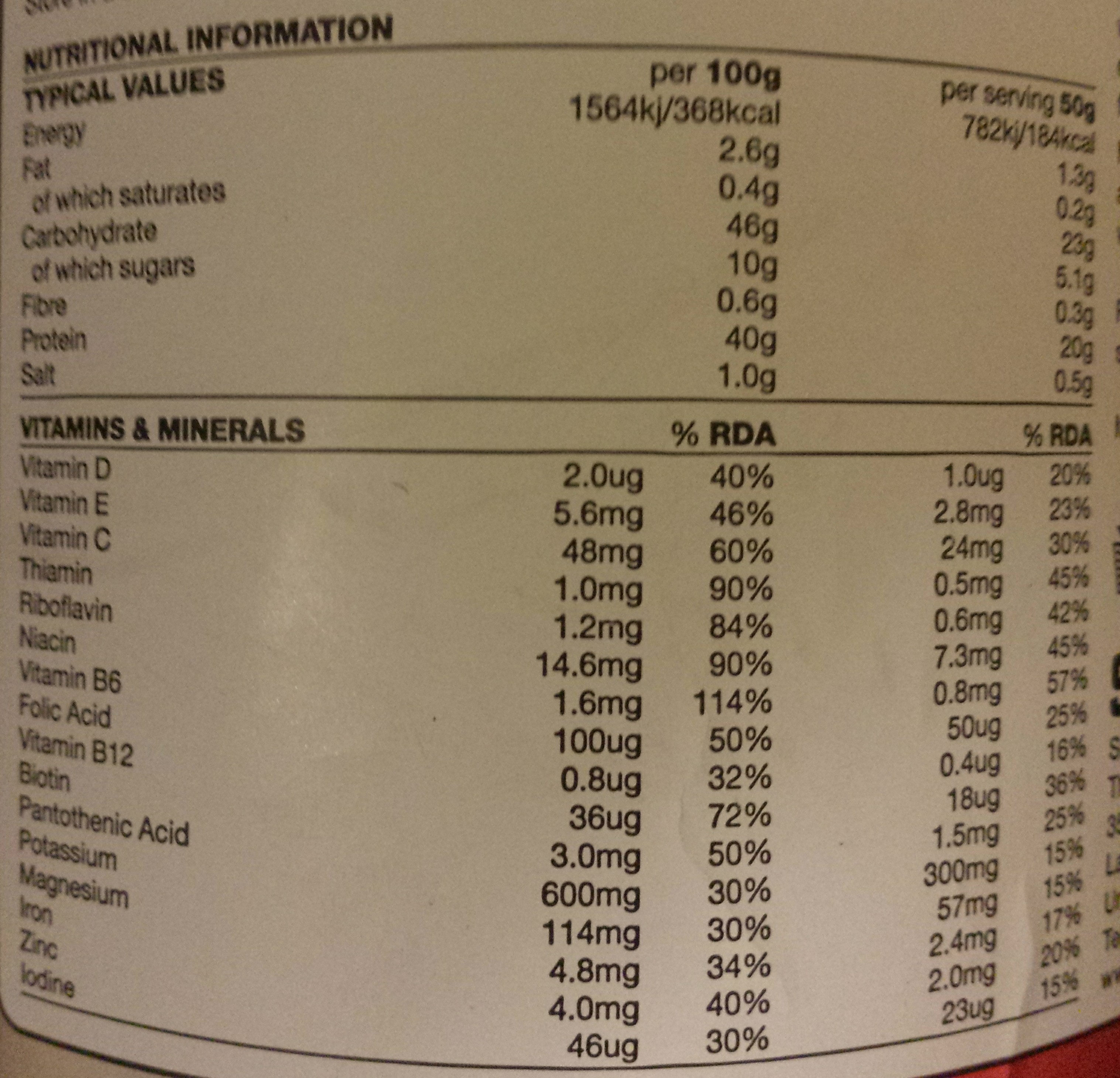 Rego Rapid Recovery - Strawberry - Nutrition facts - en