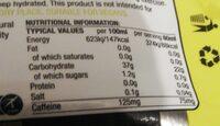 Sis Go Energie Caffeine - Informations nutritionnelles - it