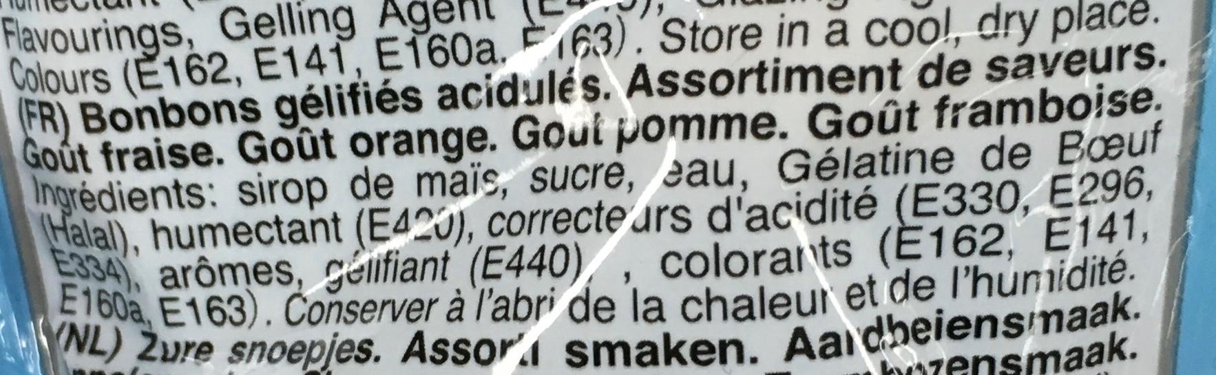 Awesome Gummies - Ingrediënten - fr