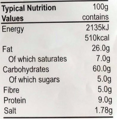 CHAKRI - rice stick - Voedingswaarden - en