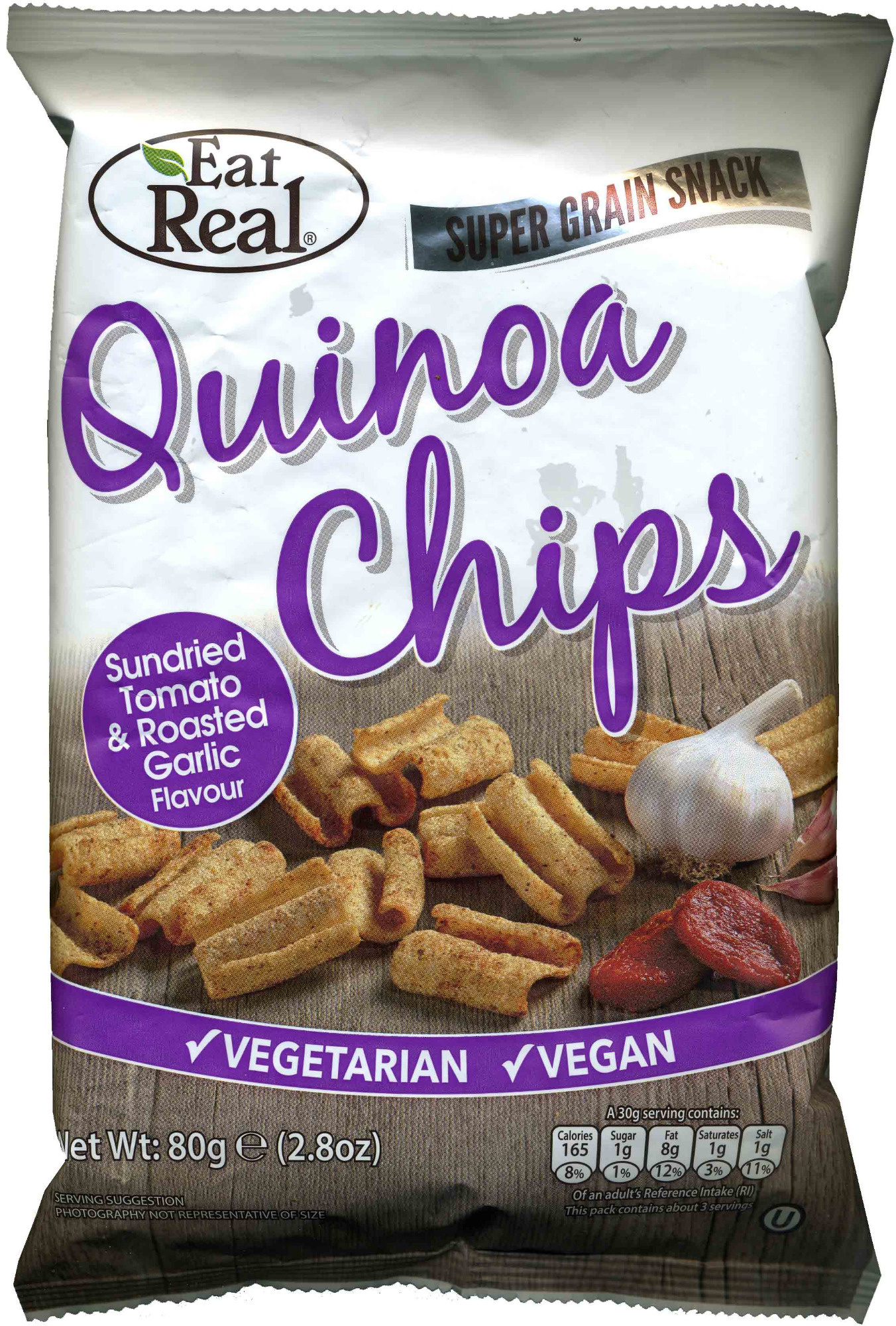 Quinoa chips sundried tomato & roasted garlic flavour - Product - en