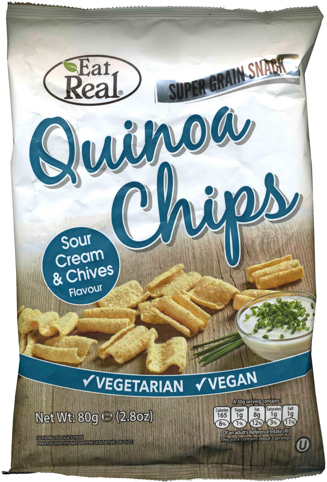 Quinoa Sour Cream & Chove Flavour Chips - Product - en