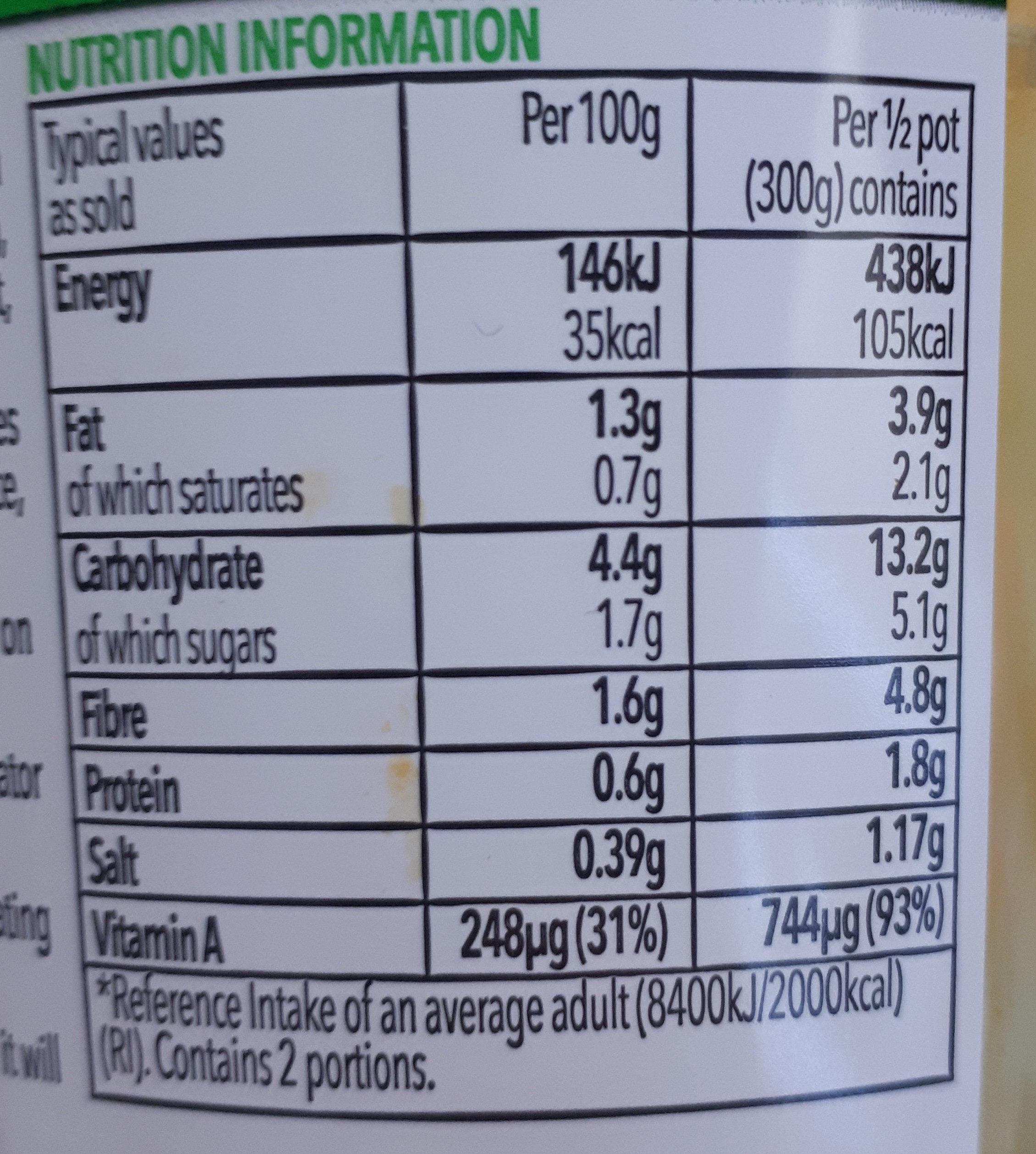Super soup - Valori nutrizionali - en