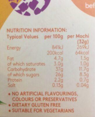 Soft Mochi & Gelato Ice Cream Alphonso Mango 6 x (192g) - Nutrition facts - en