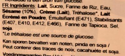 Mochi glacé aux Sesames grillées - Ingredients