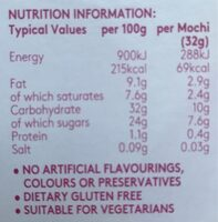 Little Moons - Tropical Passionfruit & Mango - Nutrition facts - fr