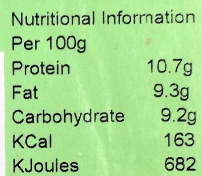 Beef ball - Informations nutritionnelles - en