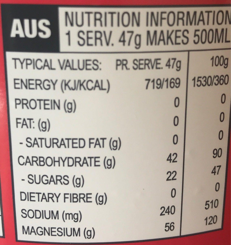 Energy Source Xtreme Citrus 1.4 KG [misc. ] - Nutrition facts - fr