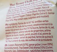 Geo sticks sweet chilli - Ingrédients