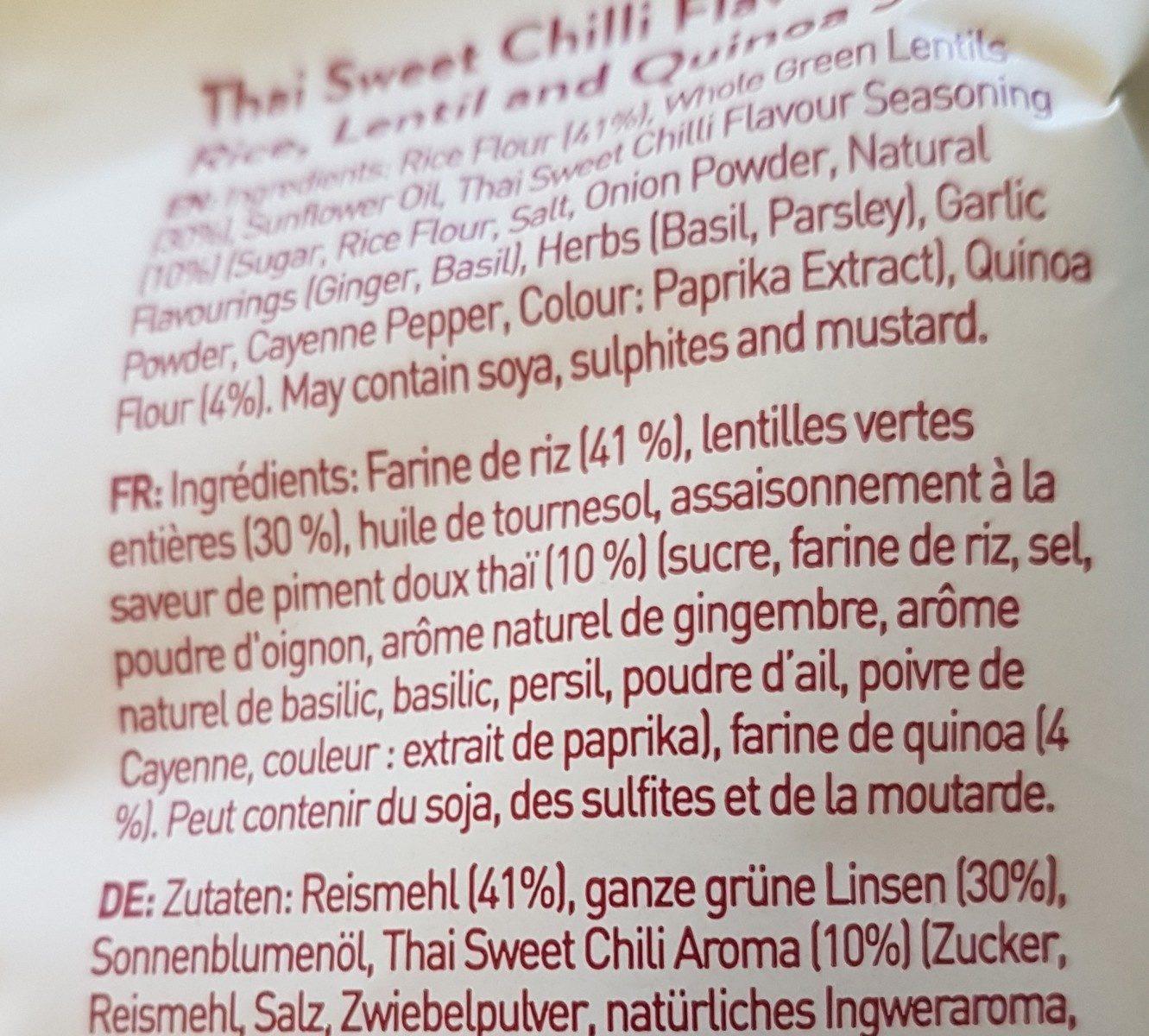 Geo sticks sweet chilli - Ingrédients - fr