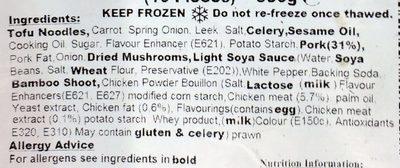 Bean curd skin roll - Ingrediënten - en