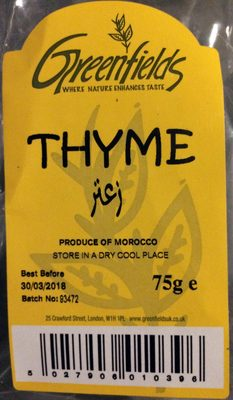 Thyme - Product