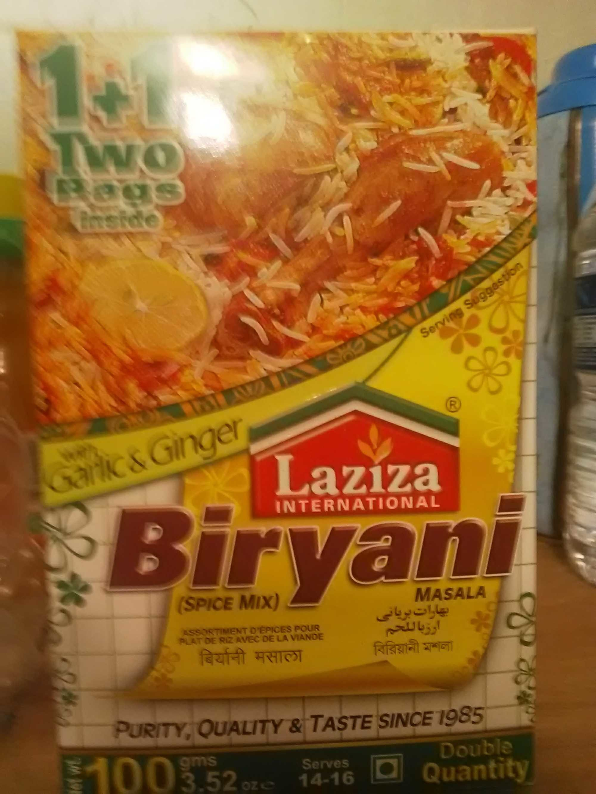 Laziza Biryani Plain Mix 100G - Product - fr